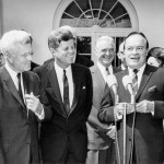 JFK Presents Medal to Bob Hope at the White House