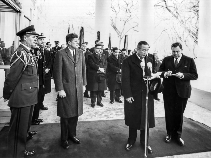JFK Meets with the King of Laos
