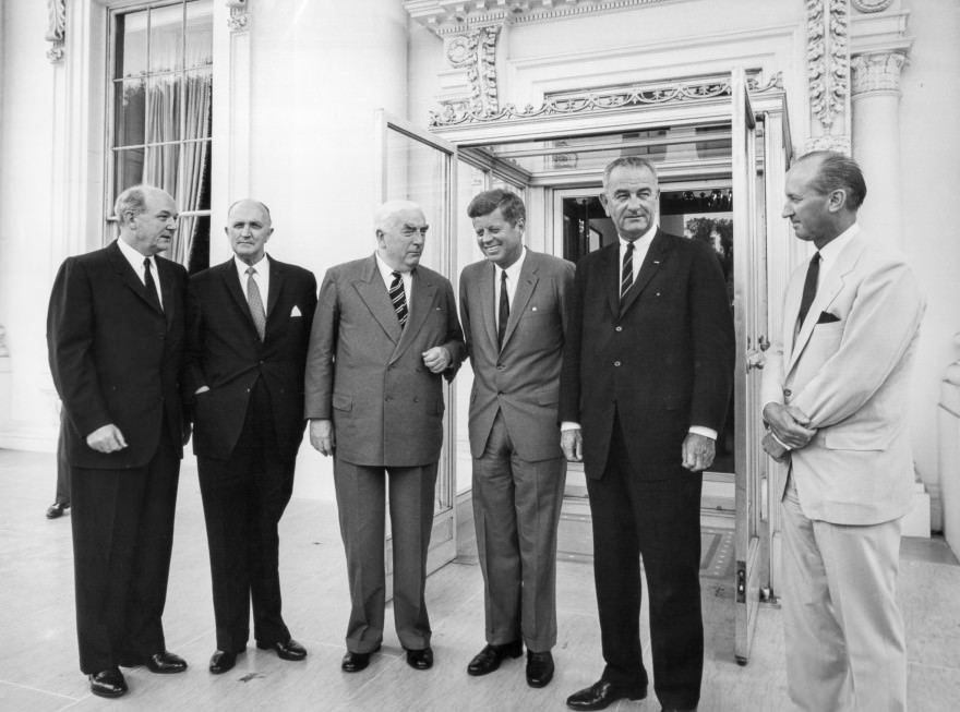 JFK with Sir Robert Menzies - 8 July 1963